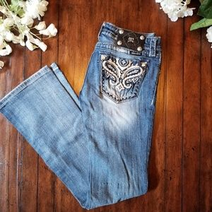 MISS ME JEANS | Boot Cut Embelished Style JW5367B3